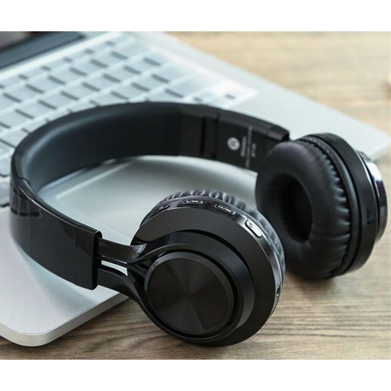 Складные наушники Sound Intone BT-06 – Bluetooth 4.0, 3.5 мм аудио, Micro SD, FM-радио, шумоподавление, Hi-Fi звук 205866
