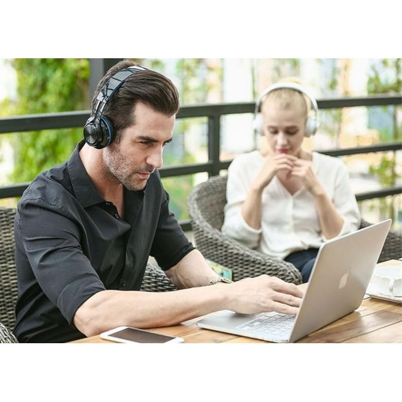 Складные наушники Sound Intone BT-06 – Bluetooth 4.0, 3.5 мм аудио, Micro SD, FM-радио, шумоподавление, Hi-Fi звук 205868