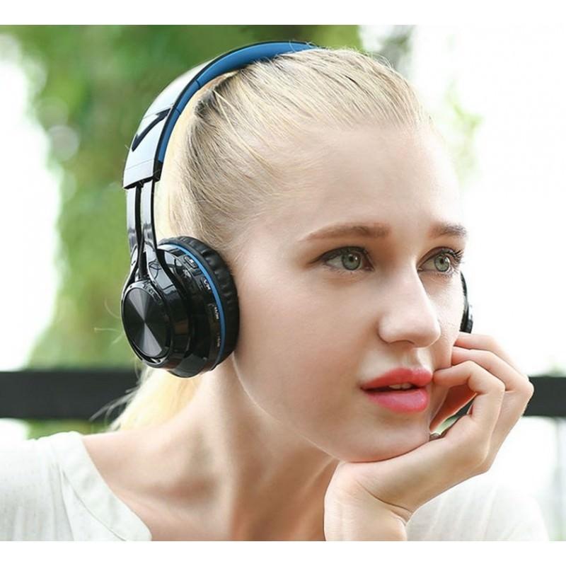 Складные наушники Sound Intone BT-06 – Bluetooth 4.0, 3.5 мм аудио, Micro SD, FM-радио, шумоподавление, Hi-Fi звук 205869