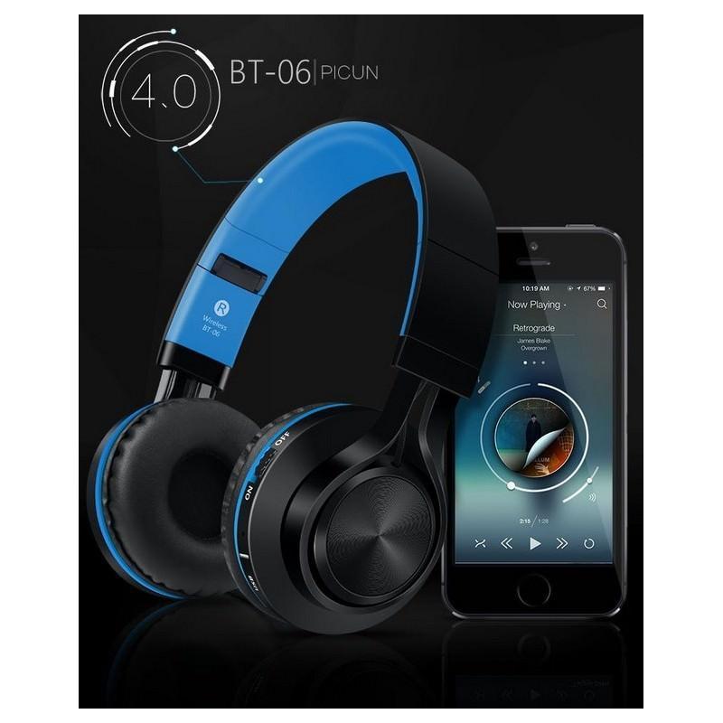 Складные наушники Sound Intone BT-06 – Bluetooth 4.0, 3.5 мм аудио, Micro SD, FM-радио, шумоподавление, Hi-Fi звук 205874