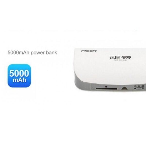 29028 - Многофункциональное устройство Pisen Cloud 4 в 1 - Power Bank 5000 мАч, Wi-Fi роутер, репитер, облачное хранилище