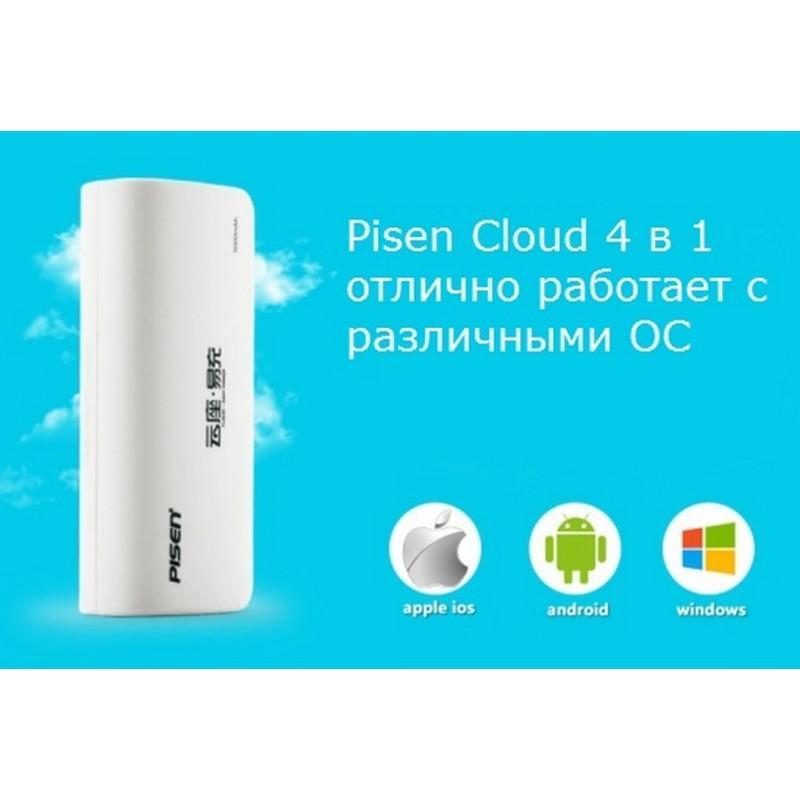 Многофункциональное устройство Pisen Cloud 4 в 1 – Power Bank 5000 мАч, Wi-Fi роутер, репитер, облачное хранилище 205879