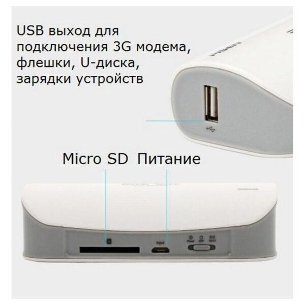 29031 - Многофункциональное устройство Pisen Cloud 4 в 1 - Power Bank 5000 мАч, Wi-Fi роутер, репитер, облачное хранилище