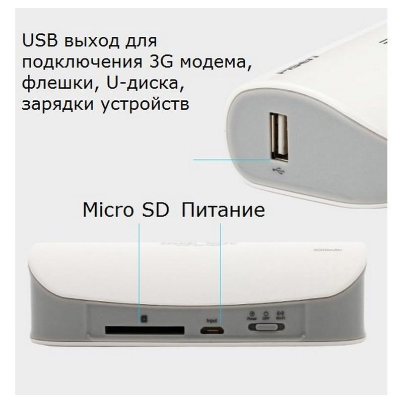 Многофункциональное устройство Pisen Cloud 4 в 1 – Power Bank 5000 мАч, Wi-Fi роутер, репитер, облачное хранилище 205880