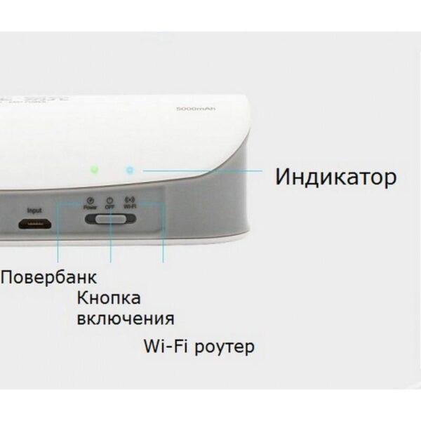 29033 - Многофункциональное устройство Pisen Cloud 4 в 1 - Power Bank 5000 мАч, Wi-Fi роутер, репитер, облачное хранилище