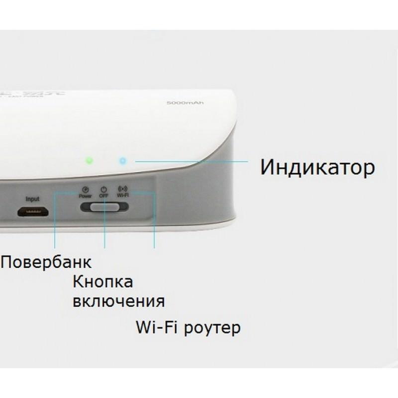 Многофункциональное устройство Pisen Cloud 4 в 1 – Power Bank 5000 мАч, Wi-Fi роутер, репитер, облачное хранилище 205882