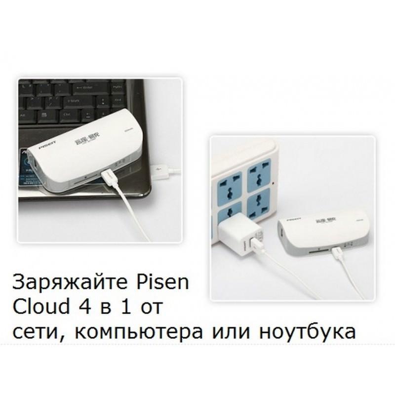 Многофункциональное устройство Pisen Cloud 4 в 1 – Power Bank 5000 мАч, Wi-Fi роутер, репитер, облачное хранилище 205883