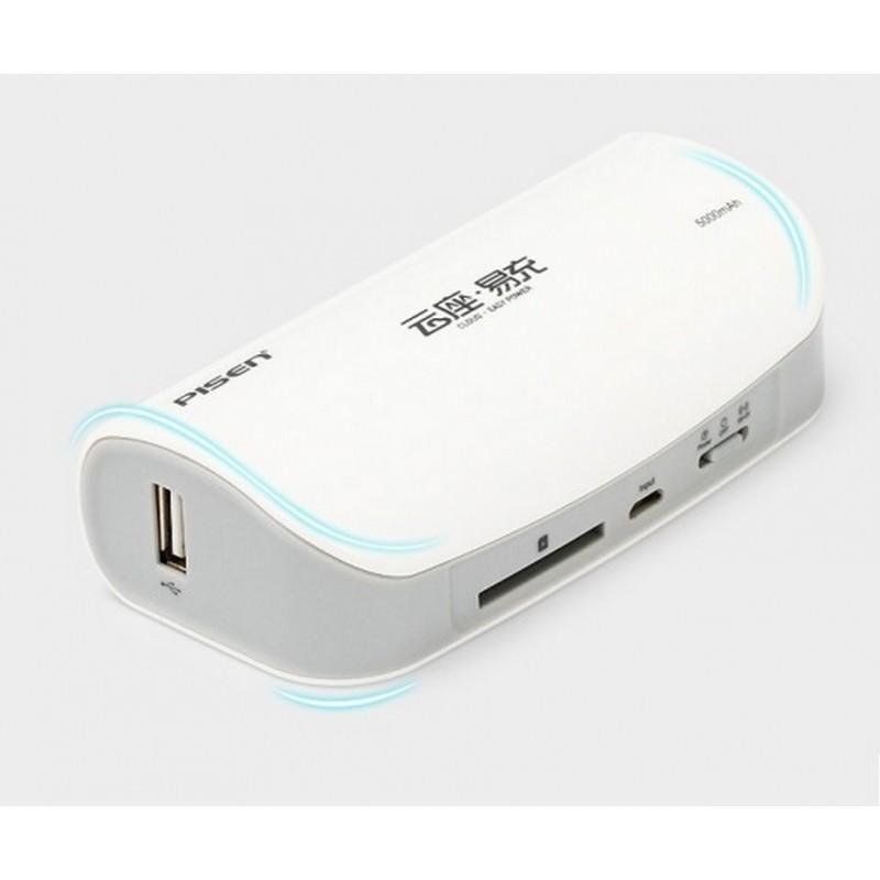 Многофункциональное устройство Pisen Cloud 4 в 1 – Power Bank 5000 мАч, Wi-Fi роутер, репитер, облачное хранилище 205884