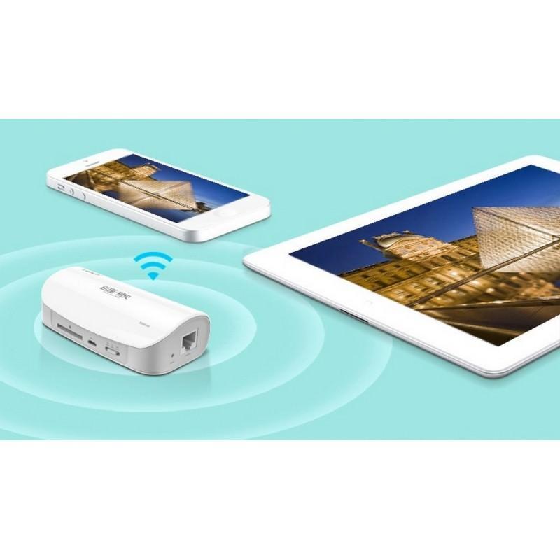 Многофункциональное устройство Pisen Cloud 4 в 1 – Power Bank 5000 мАч, Wi-Fi роутер, репитер, облачное хранилище 205885