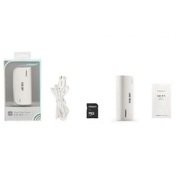 29039 - Многофункциональное устройство Pisen Cloud 4 в 1 - Power Bank 5000 мАч, Wi-Fi роутер, репитер, облачное хранилище