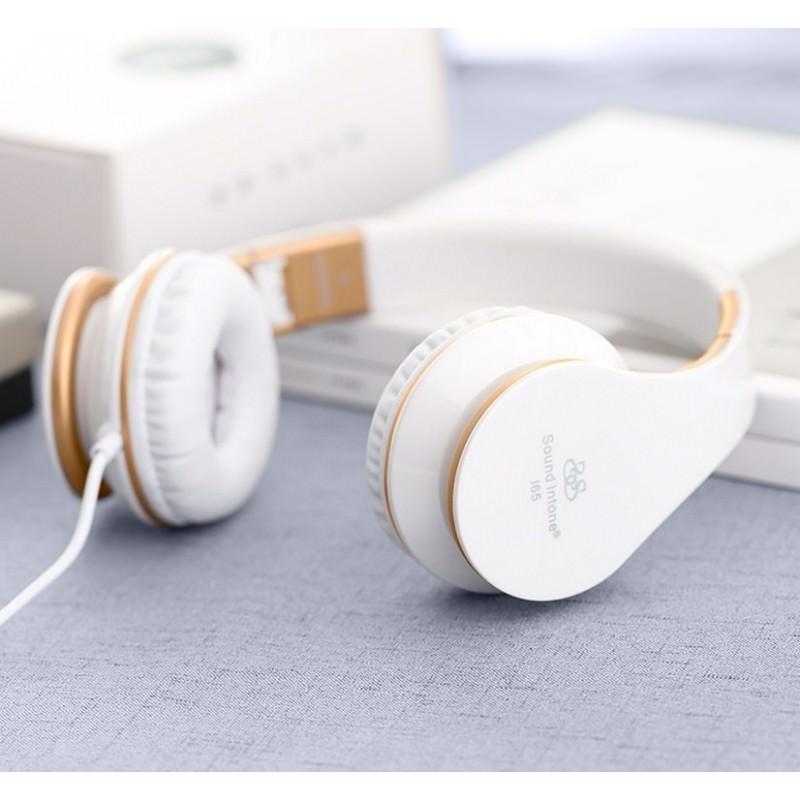 Проводные наушники-гарнитура Sound Intone I65 Hi-Fi – шумоподавление, встроенный микрофон, складная конструкция, HD звук 205914