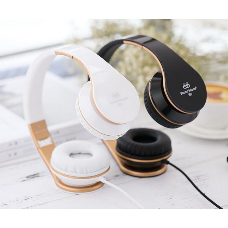 29071 - Проводные наушники-гарнитура Sound Intone I65 Hi-Fi - шумоподавление, встроенный микрофон, складная конструкция, HD звук