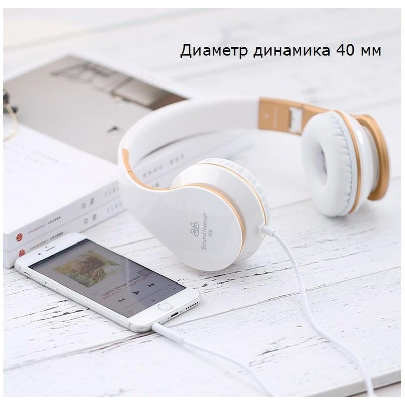 Проводные наушники-гарнитура Sound Intone I65 Hi-Fi – шумоподавление, встроенный микрофон, складная конструкция, HD звук 205917