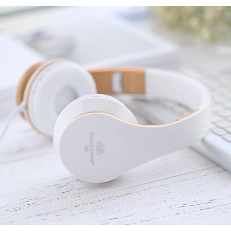 Проводные наушники-гарнитура Sound Intone I65 Hi-Fi – шумоподавление, встроенный микрофон, складная конструкция, HD звук 205921