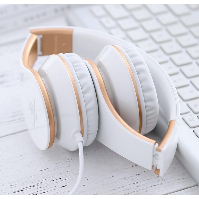 Проводные наушники-гарнитура Sound Intone I65 Hi-Fi – шумоподавление, встроенный микрофон, складная конструкция, HD звук 205922