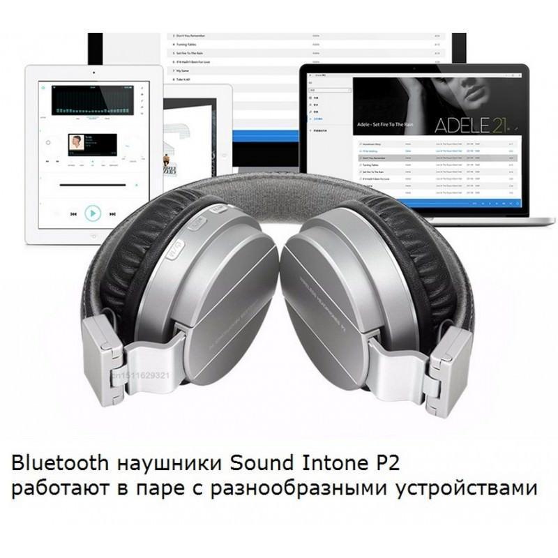 Складные Bluetooth наушники Sound Intone P2 – поддержка micro SD карт, FM-радио, микрофон 205929