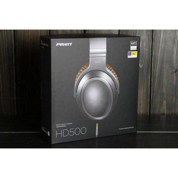 29092 - Акустические Hi-Fi наушники Pisen HD500 - позолоченный штекер, металлическая конструкция, кожаные амбушюры