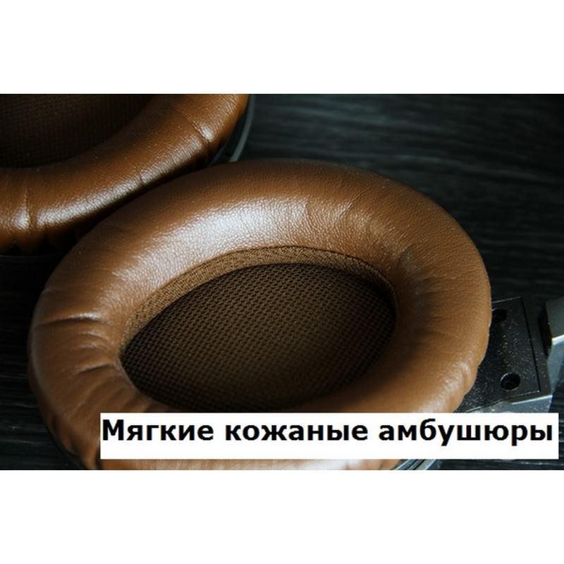 Акустические Hi-Fi наушники Pisen HD500 – позолоченный штекер, металлическая конструкция, кожаные амбушюры 205938