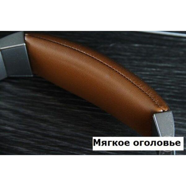 29095 - Акустические Hi-Fi наушники Pisen HD500 - позолоченный штекер, металлическая конструкция, кожаные амбушюры