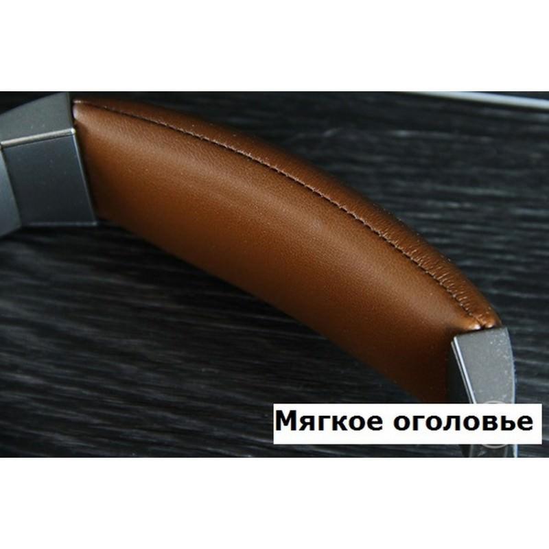 Акустические Hi-Fi наушники Pisen HD500 – позолоченный штекер, металлическая конструкция, кожаные амбушюры 205939