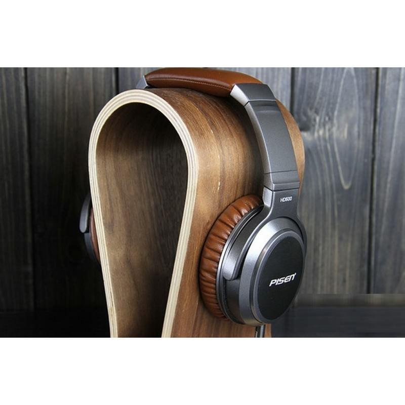 Акустические Hi-Fi наушники Pisen HD500 – позолоченный штекер, металлическая конструкция, кожаные амбушюры 205941