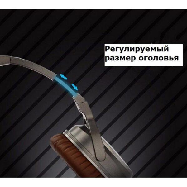 29099 - Акустические Hi-Fi наушники Pisen HD500 - позолоченный штекер, металлическая конструкция, кожаные амбушюры
