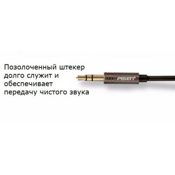 29100 - Акустические Hi-Fi наушники Pisen HD500 - позолоченный штекер, металлическая конструкция, кожаные амбушюры