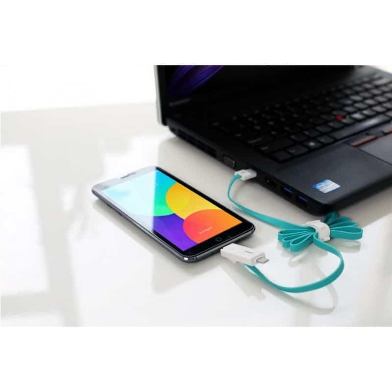 Плоский комбинированный кабель Pisen Combo для зарядки и передачи данных – Micro USB, Lightning 205954