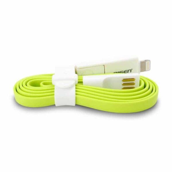29113 - Плоский комбинированный кабель Pisen Combo для зарядки и передачи данных - Micro USB, Lightning