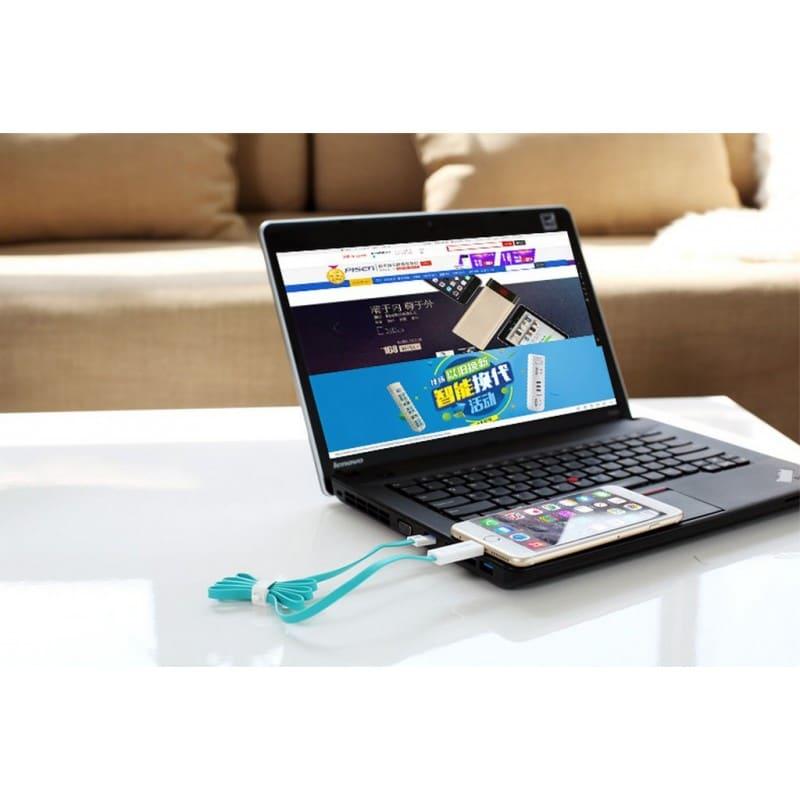 Плоский комбинированный кабель Pisen Combo для зарядки и передачи данных – Micro USB, Lightning 205958