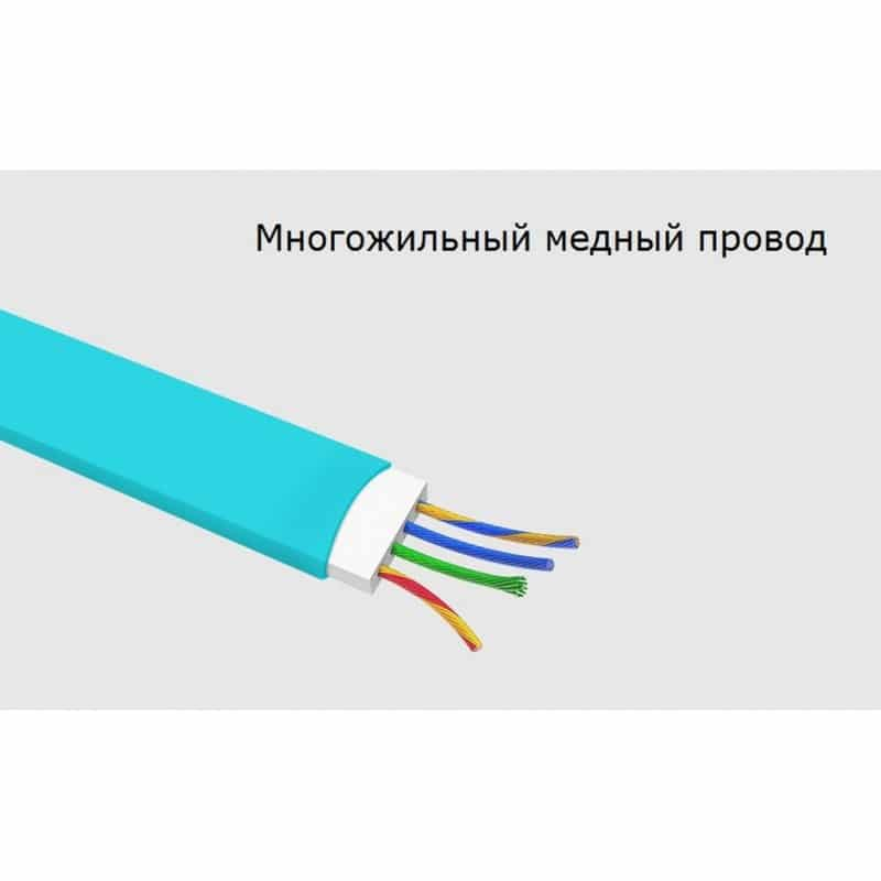 Плоский комбинированный кабель Pisen Combo для зарядки и передачи данных – Micro USB, Lightning 205960