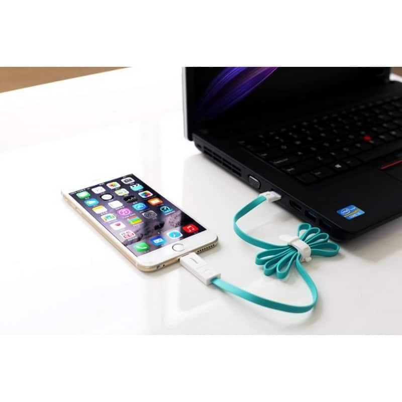 Плоский комбинированный кабель Pisen Combo для зарядки и передачи данных – Micro USB, Lightning 205962
