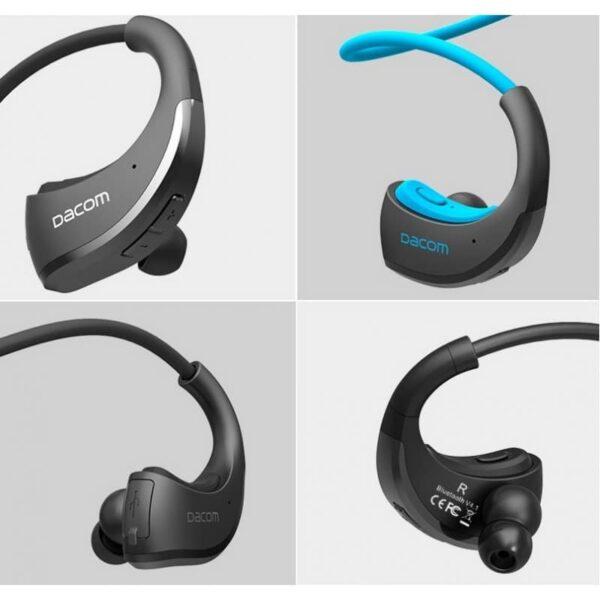29228 - Bluetooth гарнитура Dacom Armor - IPx5, до 8 часов активной работы, шумоподавление