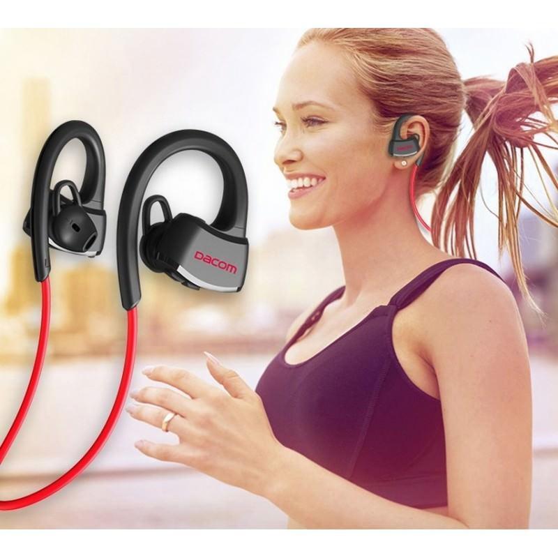 Спортивная Bluetooth гарнитура Dacom Р10 – IPx7, шумоподавление CVC 6.0, до 7 дней в режиме ожидания 206065
