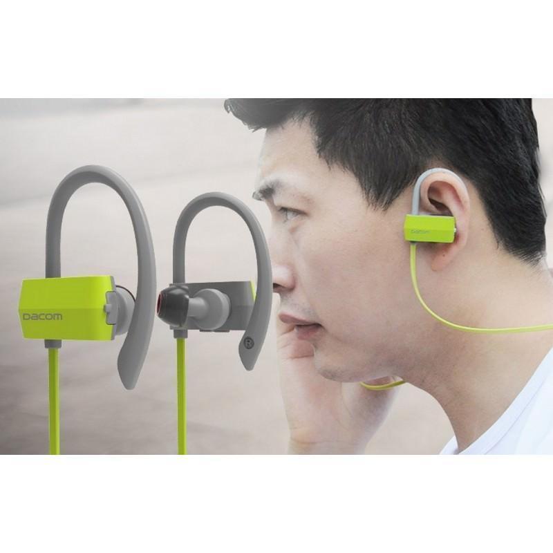 29256 - Беспроводные Bluetooth наушники Dacom G18 для бега - IPx4, шумоподавление CVC 6.0, мягкое силиконовое крепление