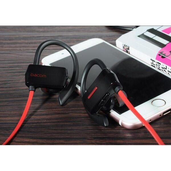 29261 - Беспроводные Bluetooth наушники Dacom G18 для бега - IPx4, шумоподавление CVC 6.0, мягкое силиконовое крепление