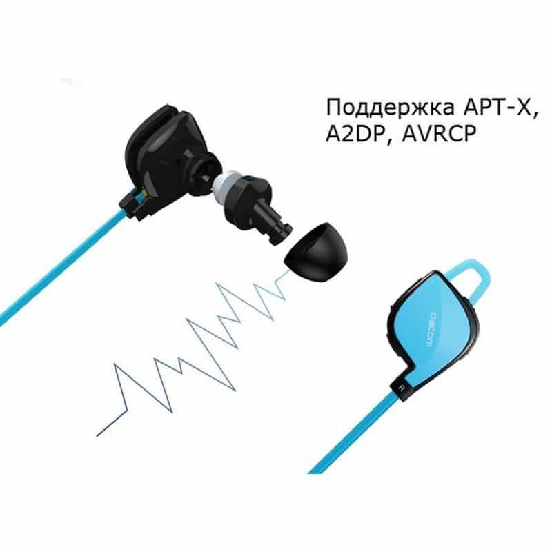 Беспроводные Bluetooth наушники Dacom Lancer Two – шумоподавление CVC 6.0, поддержка APT-X, до 8 часов музыки и разговора 206094