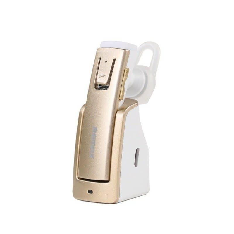 Bluetooth гарнитура Remax RB-T6C с зарядной док-станцией и подставкой: подавление шума, поддержка 2 устройств одновременно