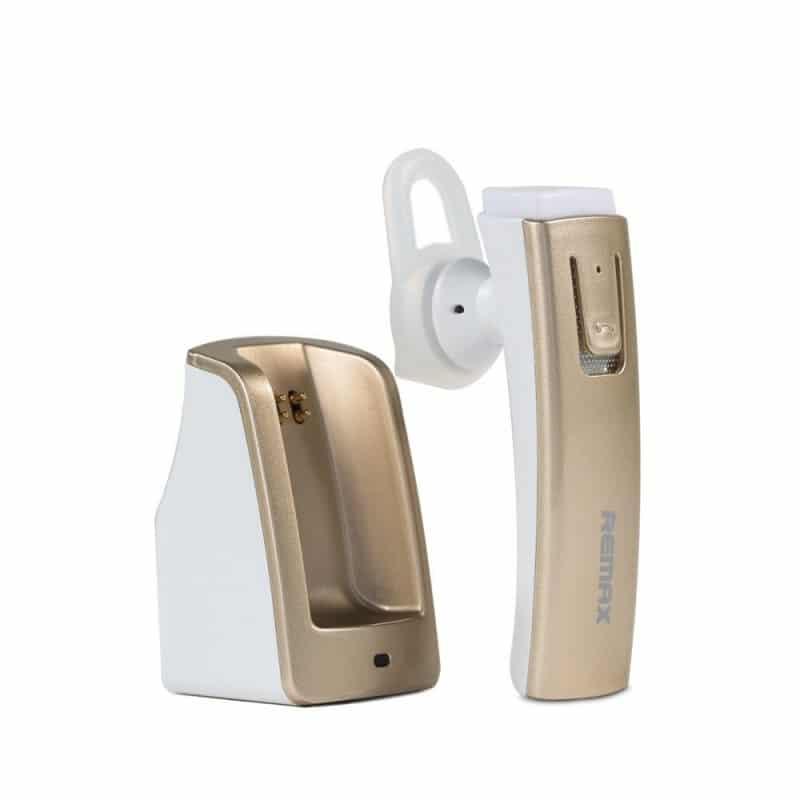 Bluetooth гарнитура Remax RB-T6C с зарядной док-станцией и подставкой: подавление шума, поддержка 2 устройств одновременно 206142