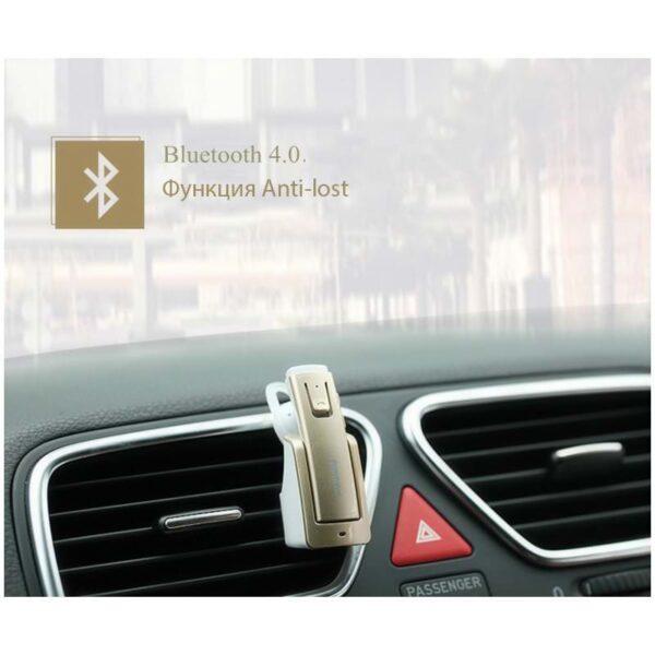29323 - Bluetooth гарнитура Remax RB-T6C с зарядной док-станцией и подставкой: подавление шума, поддержка 2 устройств одновременно