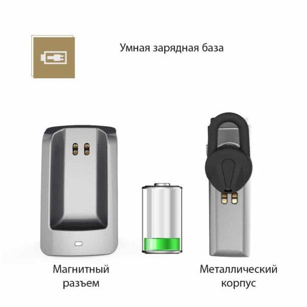 29325 - Bluetooth гарнитура Remax RB-T6C с зарядной док-станцией и подставкой: подавление шума, поддержка 2 устройств одновременно