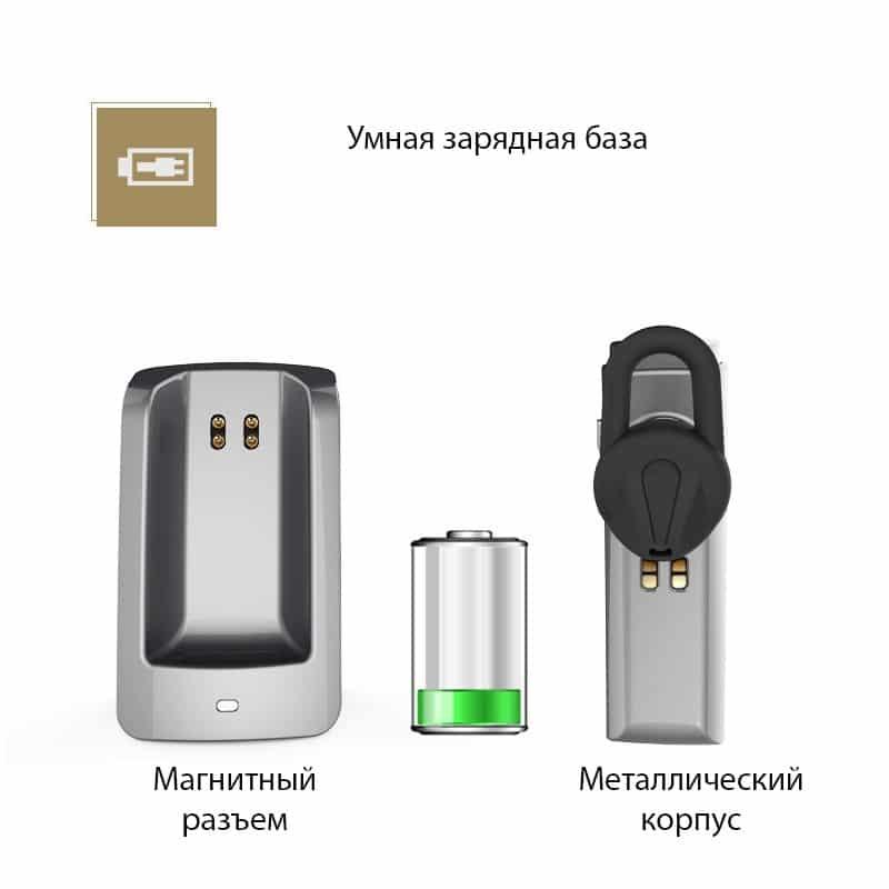Bluetooth гарнитура Remax RB-T6C с зарядной док-станцией и подставкой: подавление шума, поддержка 2 устройств одновременно 206148