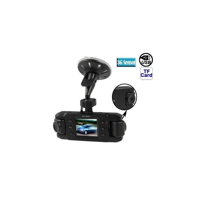Автомобильный видеорегистратор, 2 поворотные камеры, обзор 140°, вращение до 180°, GPS-модуль, G-сенсор