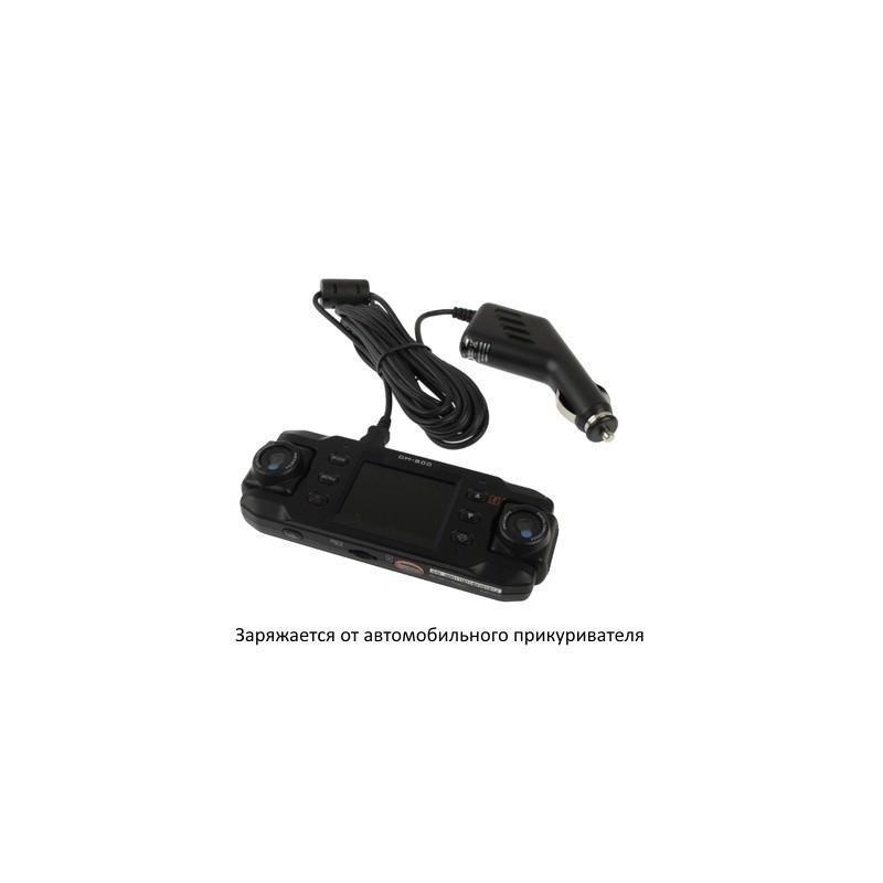 Автомобильный видеорегистратор, 2 поворотные камеры, обзор 140°, вращение до 180°, GPS-модуль, G-сенсор 185871