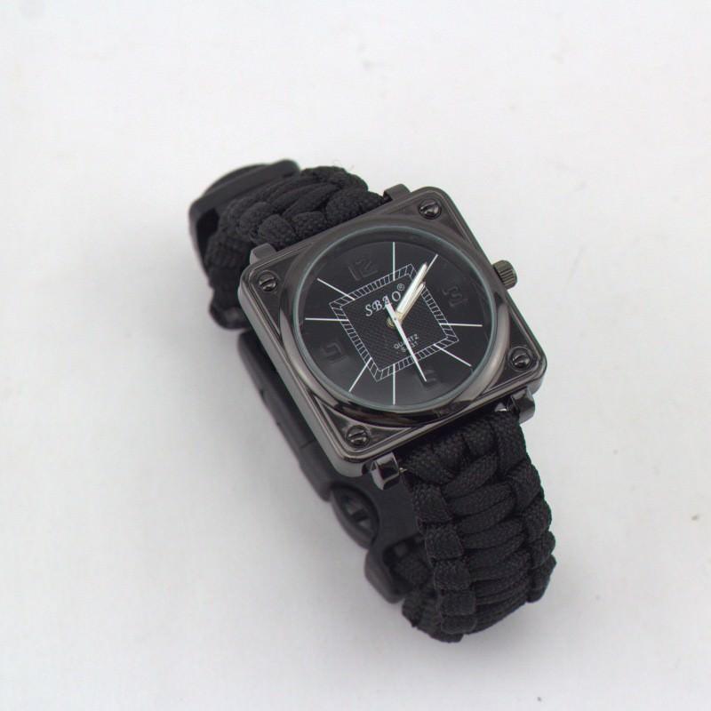Часы-браслет выживания 6 в 1 Polar Star: огниво, паракорд, компас, свисток, нож 206216