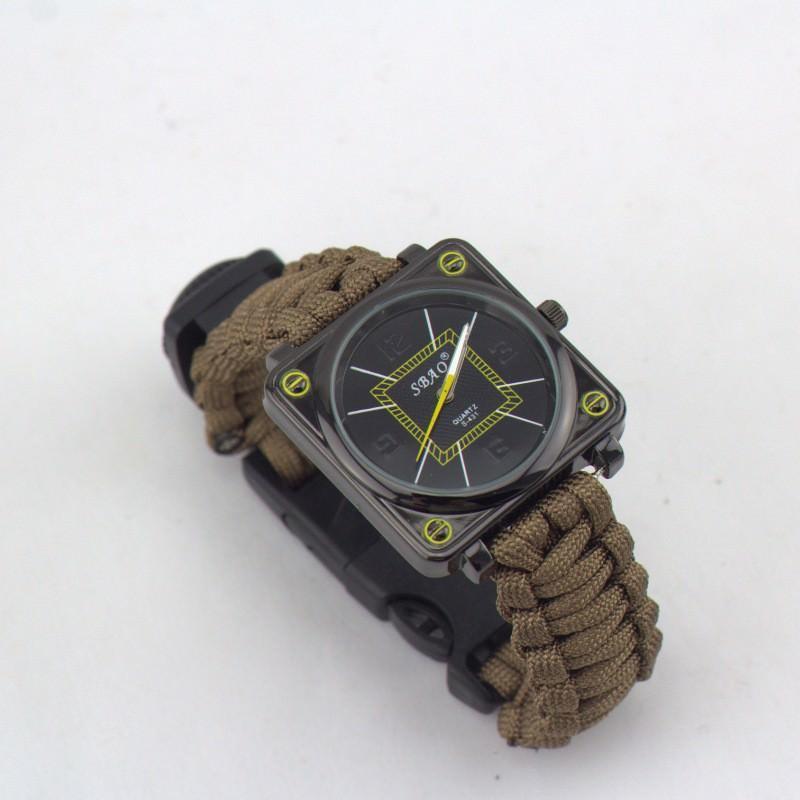 Часы-браслет выживания 6 в 1 Polar Star: огниво, паракорд, компас, свисток, нож 206219