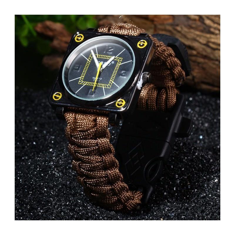 Часы-браслет выживания 6 в 1 Polar Star: огниво, паракорд, компас, свисток, нож 206221