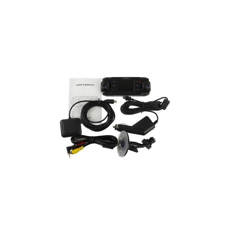 Автомобильный видеорегистратор, 2 поворотные камеры, обзор 140°, вращение до 180°, GPS-модуль, G-сенсор 185872