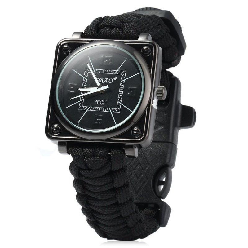 29435 - Часы-браслет выживания 6 в 1 Polar Star: огниво, паракорд, компас, свисток, нож