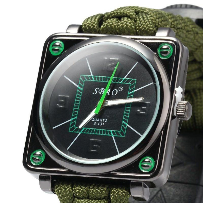 Часы-браслет выживания 6 в 1 Polar Star: огниво, паракорд, компас, свисток, нож 206230